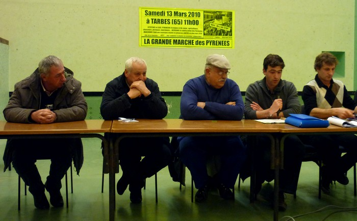Dominique Bosq, Mixel Arrantzet, Albert Agiar, Sébastien Üthürriage eta Alain Iriart