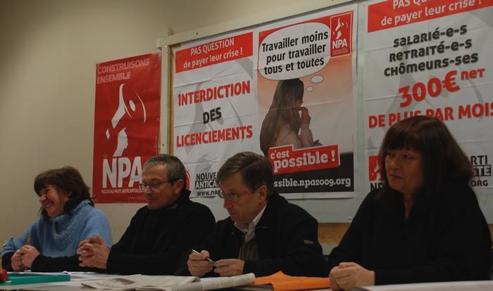 Ezkerretik esküinealat : Corinne Libeault, Philippe Lartigue, Pedro Carrasquedo eta Françoise Carrasquedo.